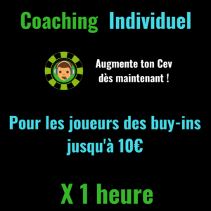 Coaching Poker Individuel Low Buy-In X 1 heure